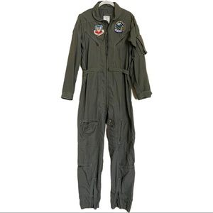 Airforce Suit Flying Jumpsuit w/Rare Patches Large